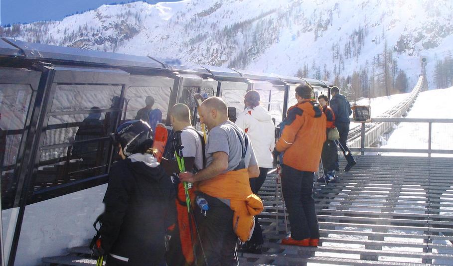 mountain train door