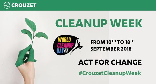 Crouzet CleanUpWeek 2018