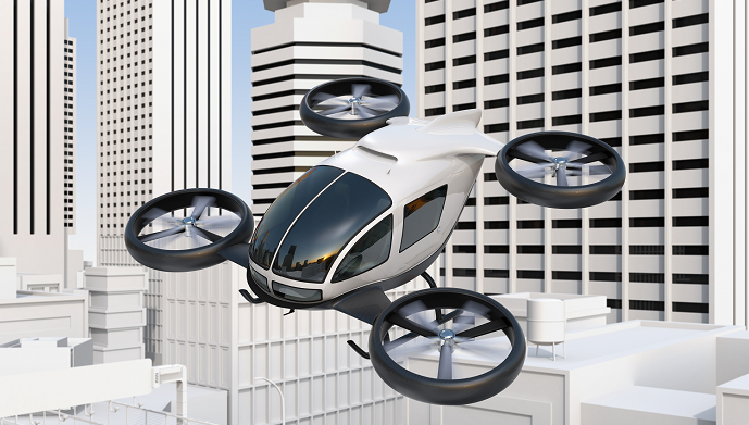 Flying taxis in the sky of smart cities
