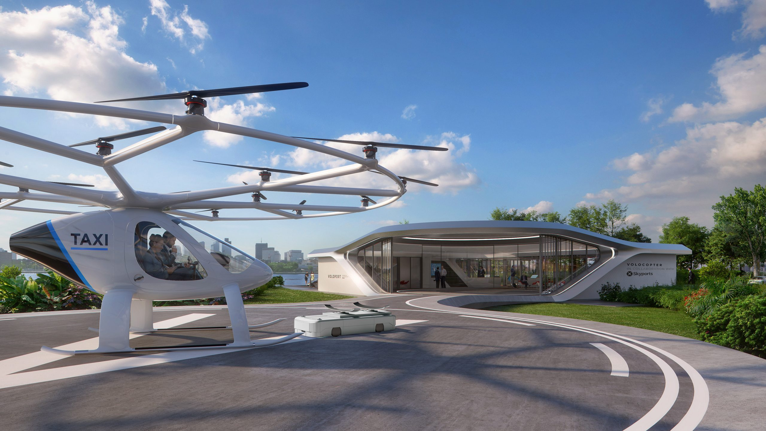 Business Case Volocopter's urban air taxi urb